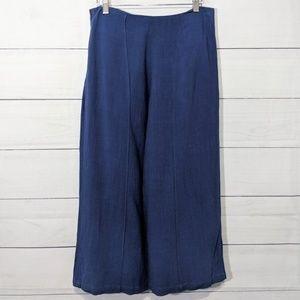 Good Luck Gem Linen Culotte Pants Large F18